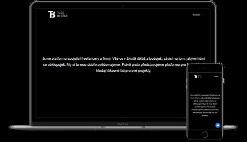 web pro platformu tvujbrand