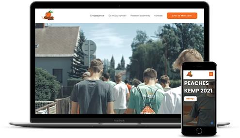 web pro florbalový tábor peacheskemp
